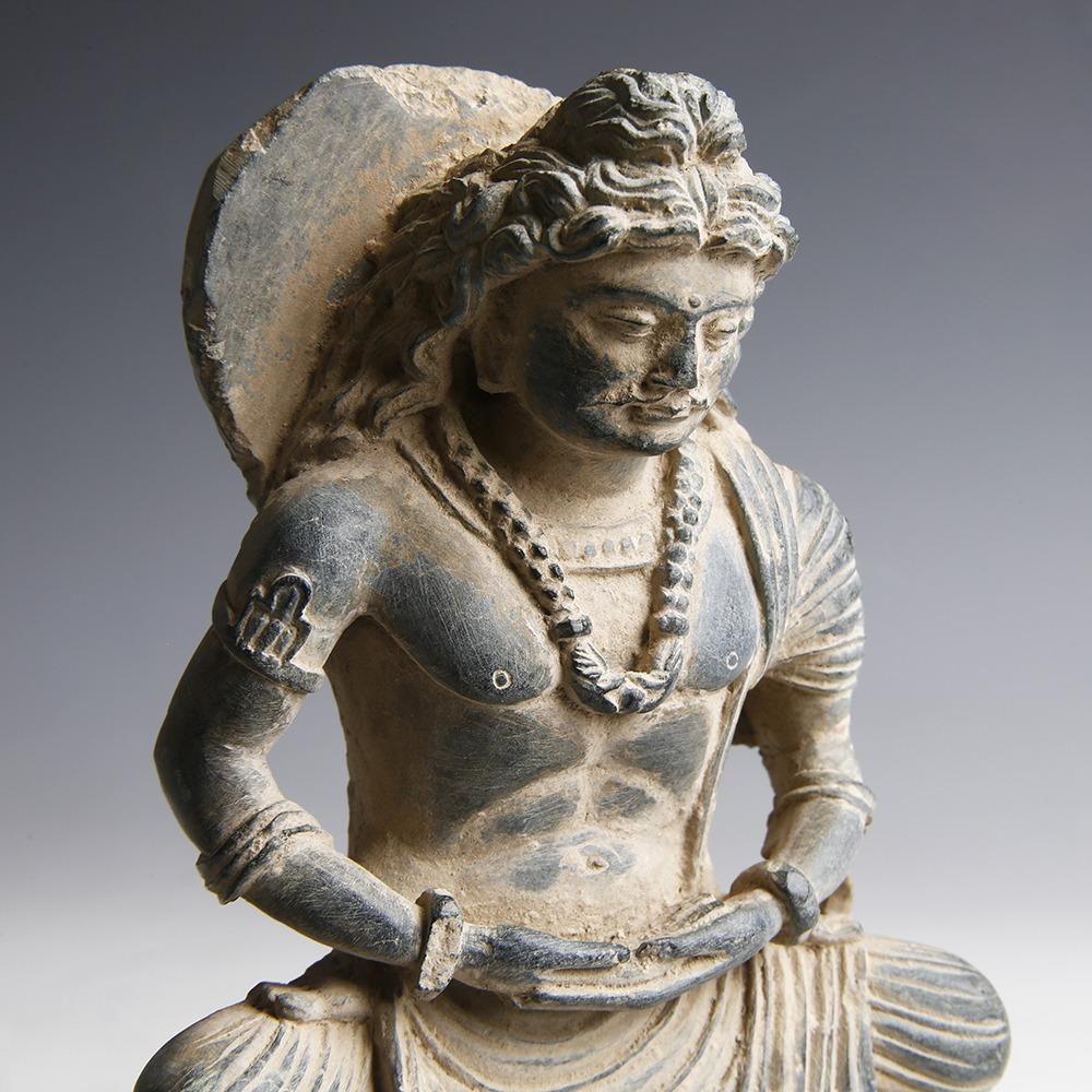 Gandhara Statuette Of Buddha Maitreya Gandharan Indian Bactrian Antiquities Ancient Oriental